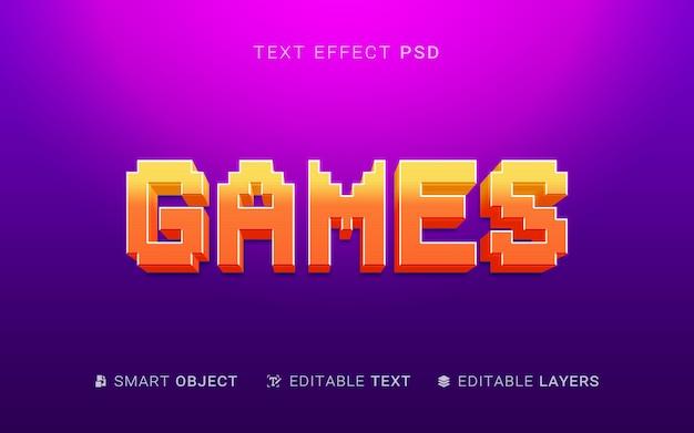 Ontwerp met teksteffect voor games