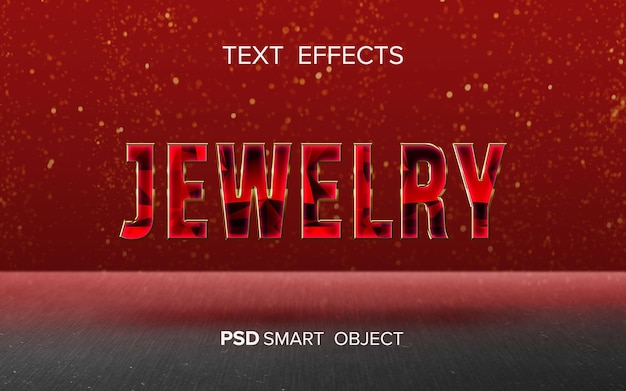 Ontwerp met teksteffect voor sieraden