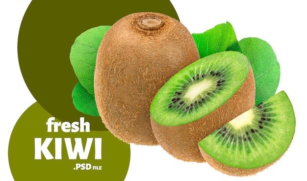 Ontwerp met verse kiwi's voor verpakking