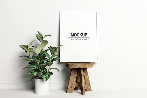 Ontwerp mockup-ontwerp voor fotolijsten in 3d-rendering
