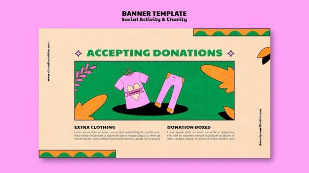 Ontwerp van bestemmingspagina-sjabloon voor liefdadigheidsdonatie