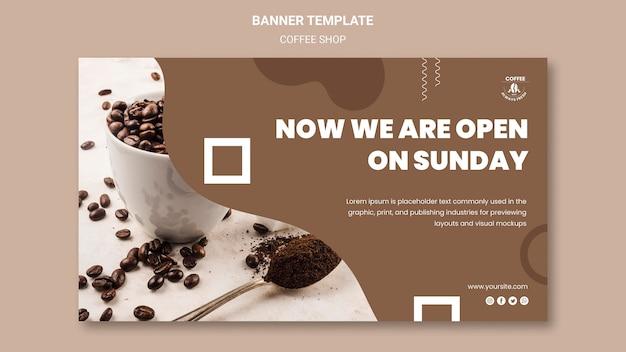 Ontwerp van de banner van de coffeeshop