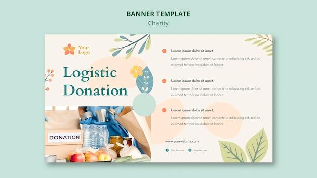 Ontwerp van de banner van liefdadigheid