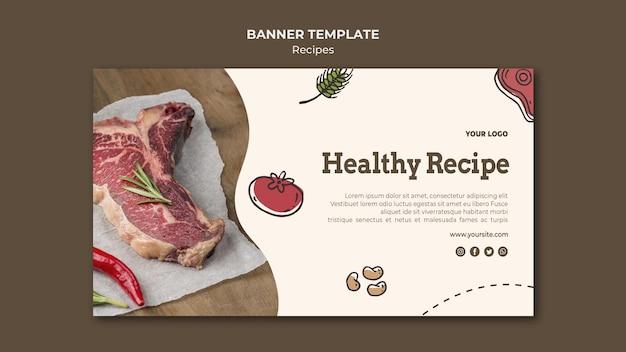 Ontwerp van de banner van recepten