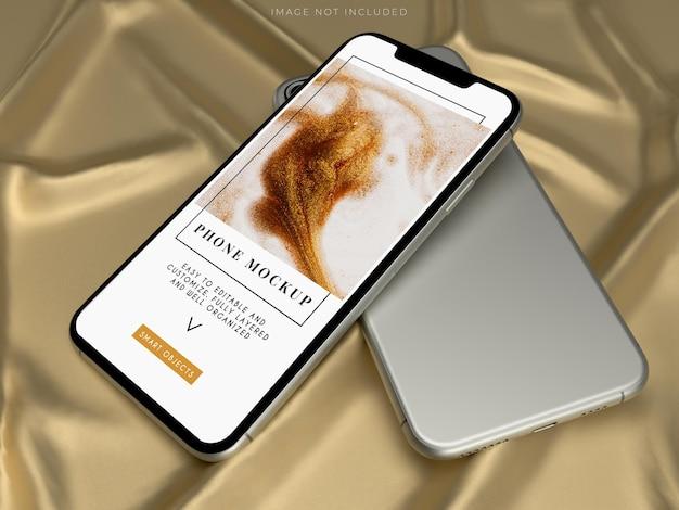 Ontwerp van mockups voor smartphone digitaal apparaatscherm