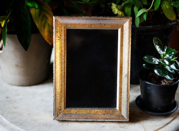 Ontwerpruimte van vintage fotolijst