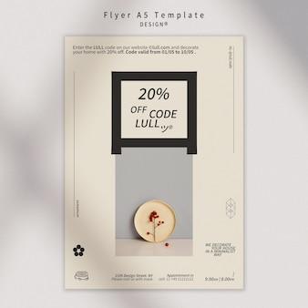 Ontwerpsjabloon interieur flyer
