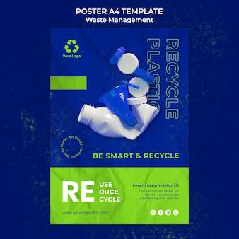 Ontwerpsjabloon voor afvalbeheerposter