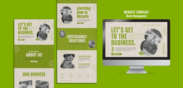 Ontwerpsjabloon voor afvalbeheerwebsite