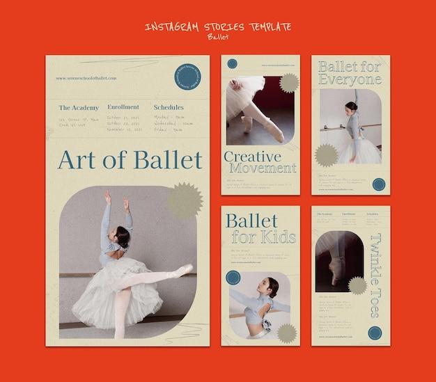 Ontwerpsjabloon voor ballet insta-verhaal