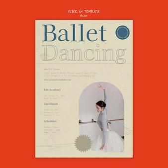 Ontwerpsjabloon voor balletposter