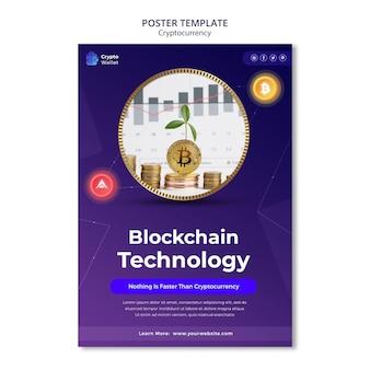 Ontwerpsjabloon voor cryptocurrency-posters