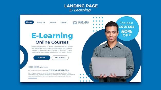 Ontwerpsjabloon voor e-learning landingspagina