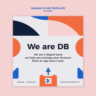Ontwerpsjabloon voor e-portemonnee flyer