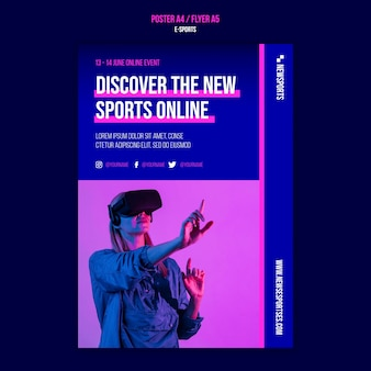 Ontwerpsjabloon voor e-sportposters