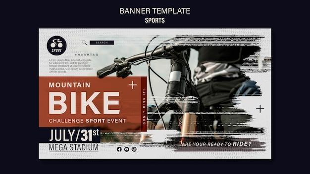Ontwerpsjabloon voor fietssportbanner