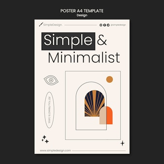 Ontwerpsjabloon voor geometrische posters