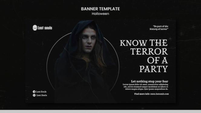 ontwerpsjabloon voor halloween-banner