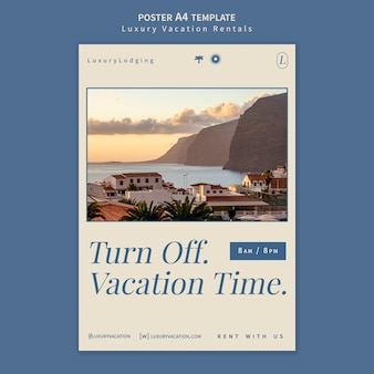 Ontwerpsjabloon voor luxe vakantieverblijven