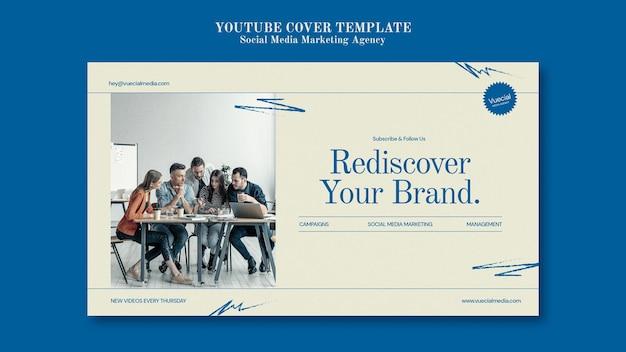 Ontwerpsjabloon voor marketingbureaus voor sociale media