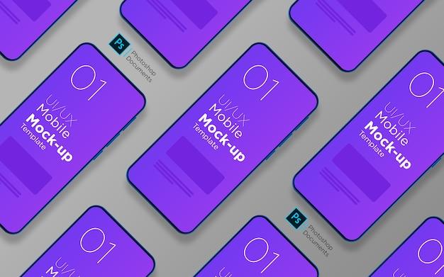 Ontwerpsjabloon voor mobiele app met meerdere schermen