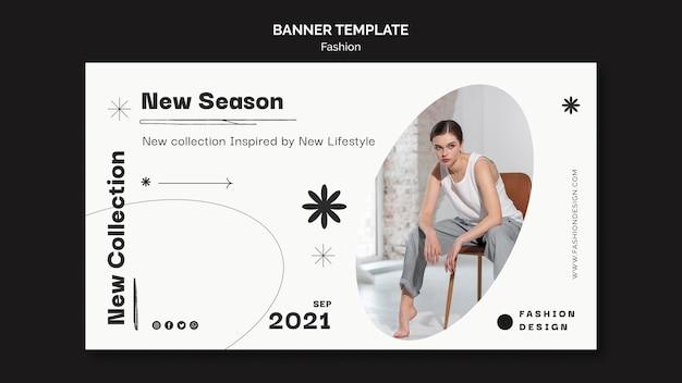 Ontwerpsjabloon voor modebanner