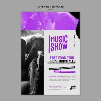 Ontwerpsjabloon voor muziekshow-flyer