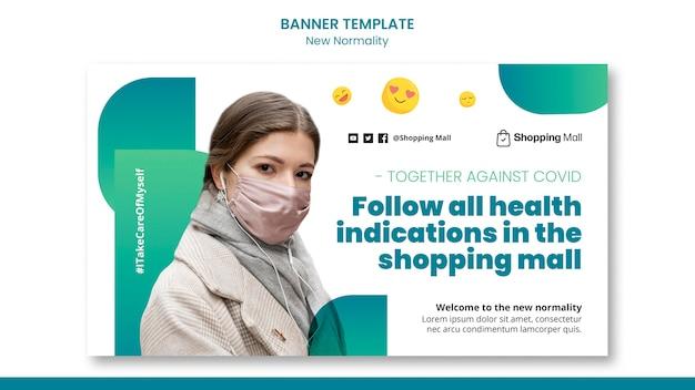 Ontwerpsjabloon voor nieuwe normaliteit banner
