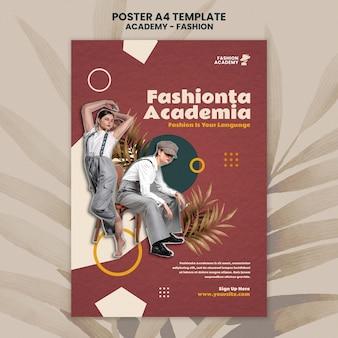 Ontwerpsjabloon voor poster van de modeacademie