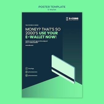 Ontwerpsjabloon voor poster voor e-wallet