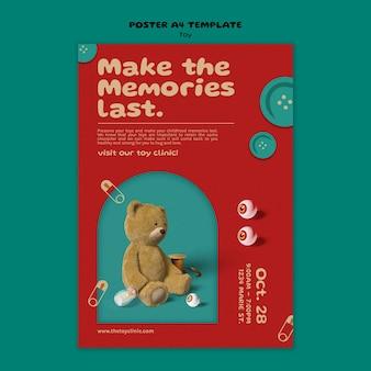 Ontwerpsjabloon voor poster voor speelgoedrestauraties