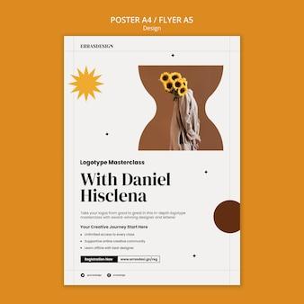 Ontwerpsjabloon voor posterontwerp