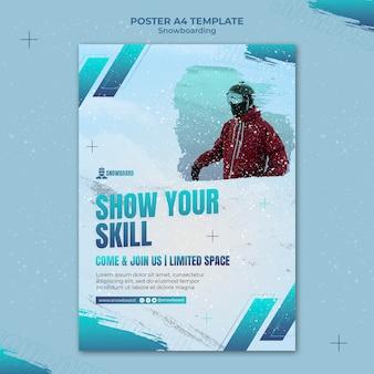 Ontwerpsjabloon voor snowboard-flyer