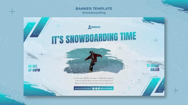 Ontwerpsjabloon voor snowboardbanner