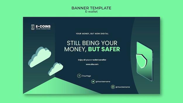 Ontwerpsjabloon voor spandoek voor e-portemonnee