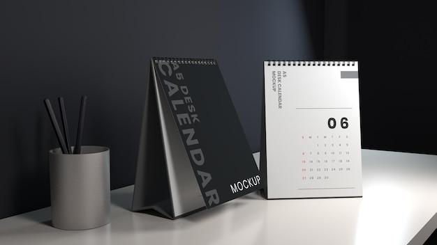 Ontwerpsjabloon voor verticale bureaukalender