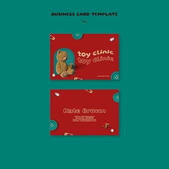 Ontwerpsjabloon voor visitekaartjes voor speelgoedrestauraties