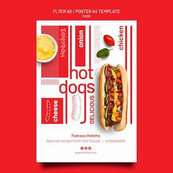 Ontwerpsjabloon voor voedselsjabloon, poster en flyer