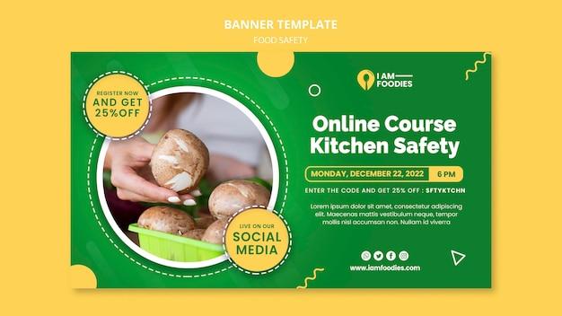 Ontwerpsjabloon voor voedselveiligheidsbanner