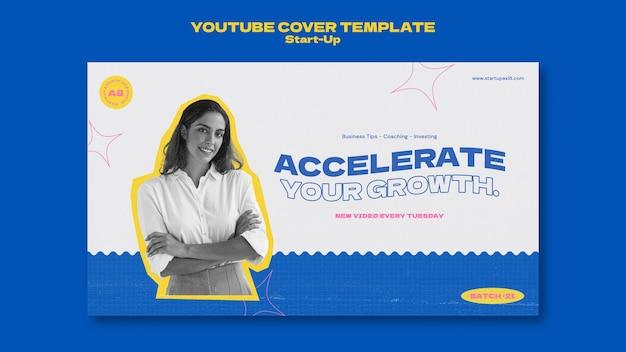 Ontwerpsjabloon voor youtube-omslagkaart opstarten