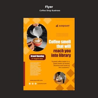 Ontwerpsjabloon voor zakelijke flyer voor coffeeshops