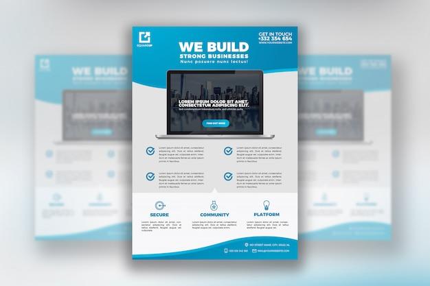 Ontwikkelaar business flyer template