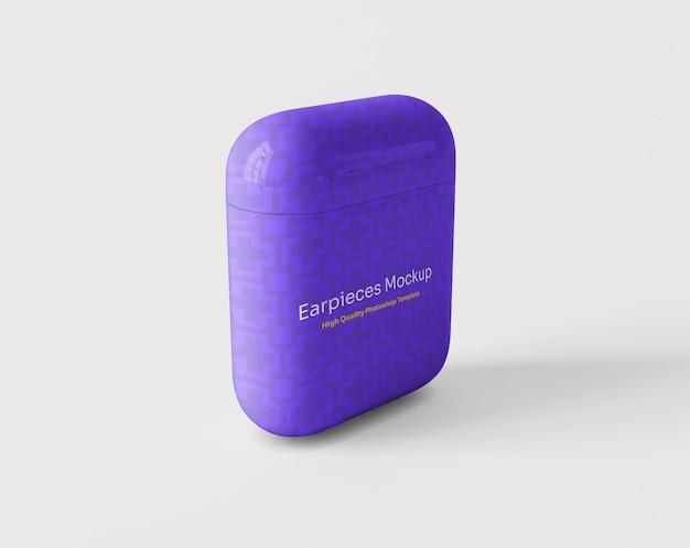 Oortelefoons met verpakkingsmodel Gratis Psd