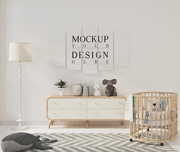 Ooster-mockup in moderne kinderkamer