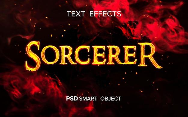 Op vuur geïnspireerd teksteffect