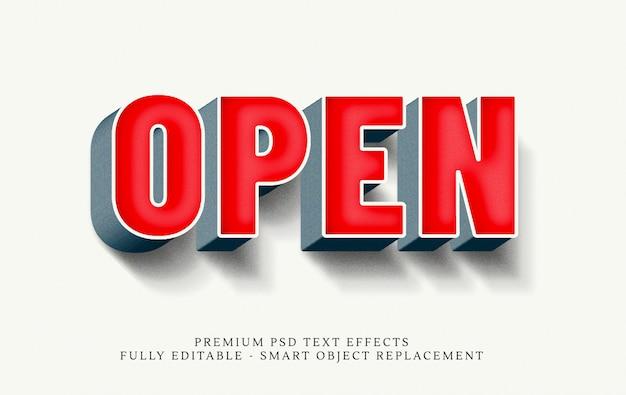 Open 3d tekststijl effect psd