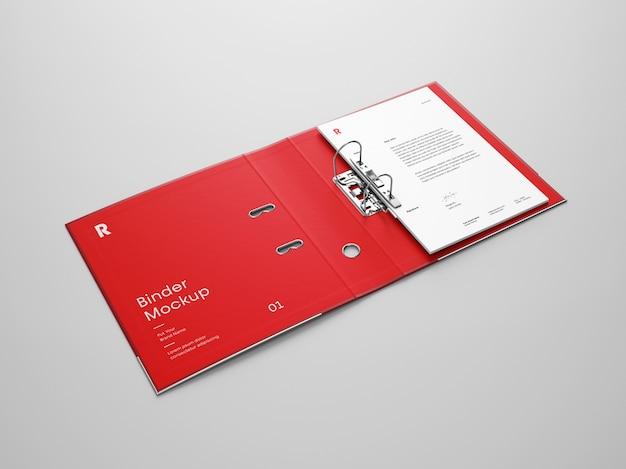 Open binder mockup