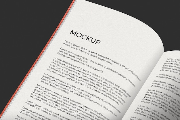 Open boek mockup