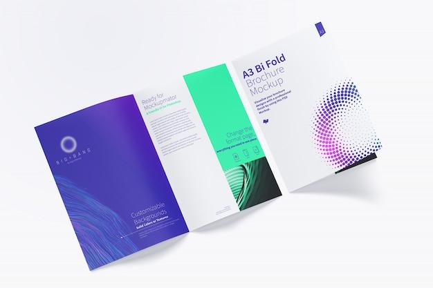 Open drievoudig brochuremodel