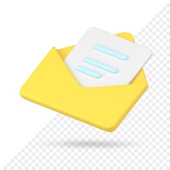 Open envelop 3d-pictogram